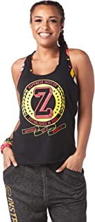 Zumba Graphic Print Dance Fitness Tank Tops Activewear Workout Tops for Women