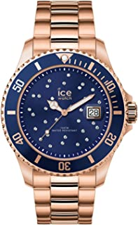 Ice-Watch - Ice Steel Blue Cosmos Rose-Gold - Montre Rose-Gold pour Femme avec Bracelet en Metal - 016774 (Medium)