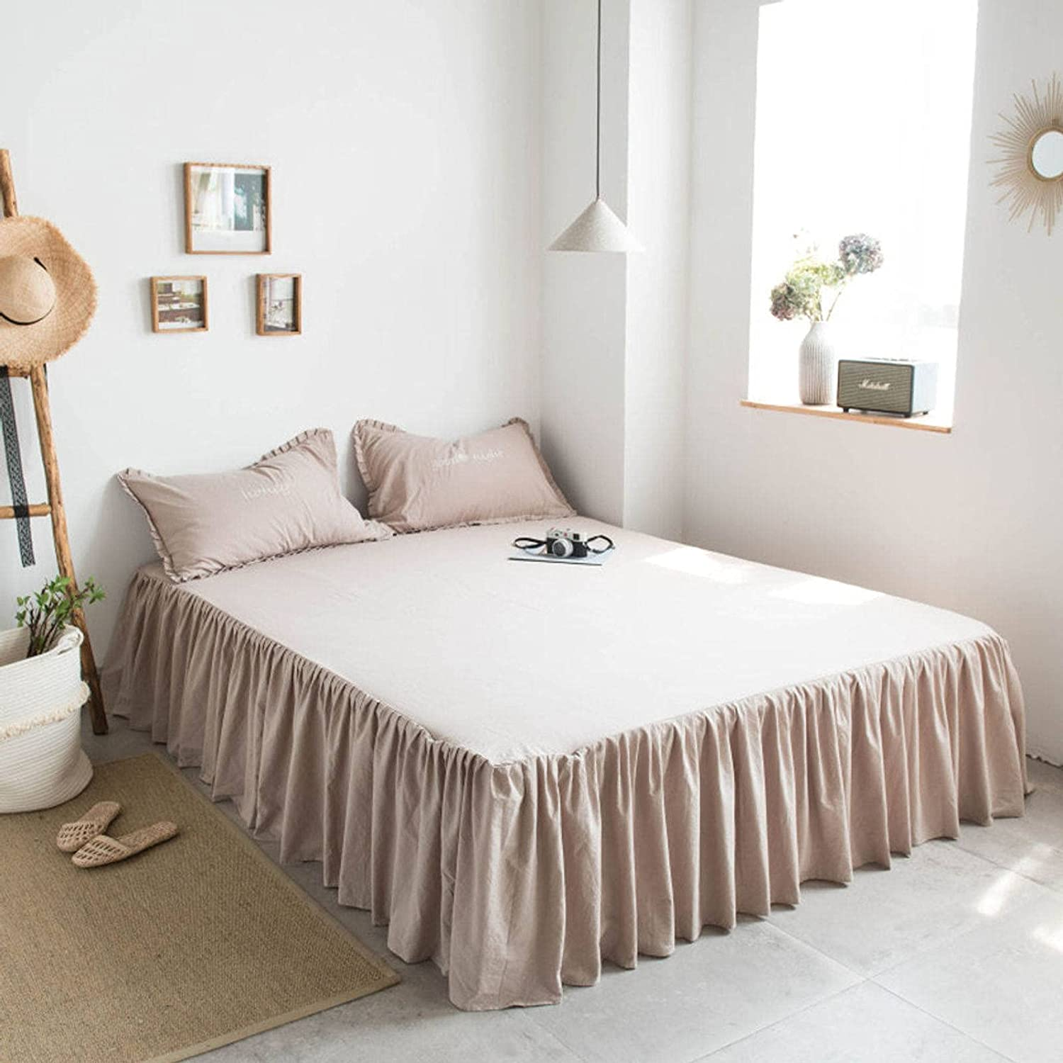 BEIGOO Ruffles Bed Skirt Dust Ruffle Color Around Wrap Solid Wri All items 67% OFF of fixed price in the store