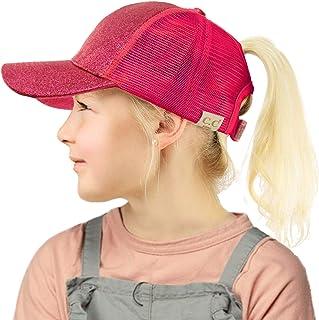 Kids 2-7 Ponytail Messy Buns Ponycaps Baseball Visor Cap Hat