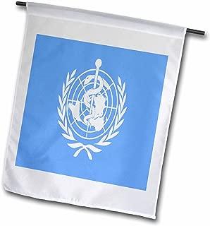 3dRose fl_62571_1 World Health Organization Flag Garden Flag, 12 by 18-Inch