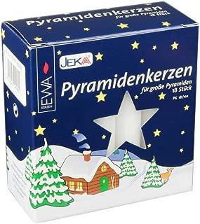 Jeka Kerzen Christmas Pyramid Carousel Candles, Large 17mm   - White