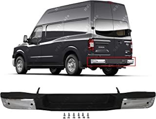 MBI AUTO - Chrome, Steel Rear Bumper Assembly for 2012-2017 Nissan NV w/Park Assist 12-17, NI1102159