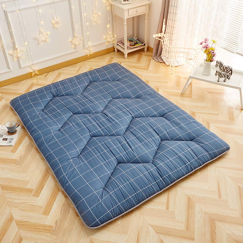 Quilted Tatami Floor Mattress,Folding Anti-Slip Japanese Traditional Futon Mattress Bed Mattress pad for Dorm Bedroom -E 90x200cm(35x79inch)