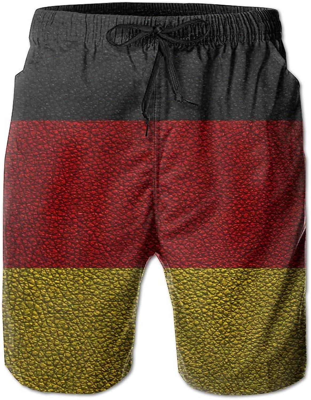 HFSST Leather Pattern German Flag EuropeHandsome Fashion Summer Cool Shorts Swimming Trunks Beachwear Beach Shorts