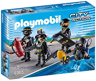 PLAYMOBIL- Equipo de Las Fuerzas Especiales Juguete, Multicolor, única (geobra Brandstätter 9365)