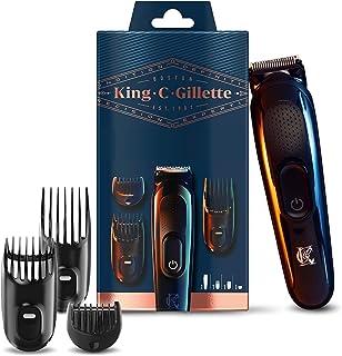 King C. Gillette Cordless Beard Trimmer Kit for Men, with Lifetime Sharp Blades, Includes 3 Interchangeable Hair Clipper C...