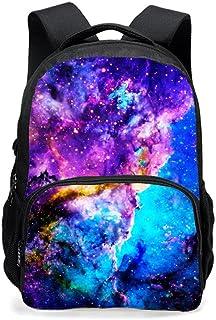 Nuevas estrellas de la impresión Bolsa de hombro ligero mochila de viaje de ocio bolsas de estudiantes Daypack Multifuncional bolsa de hombro de los deportes al aire libre ajustable (Cielo estrellado)