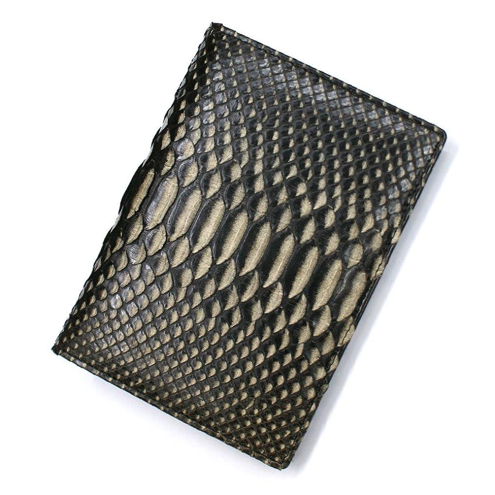 豊富に招待思い出ZE1165-BLACK パイソン革 蛇革 カード入れ カードホルダー カードケース レザー 本革 薄型カード入れ 大容量 大量収納 パスポートサイズ L.size 柄 くろ 黒 クロ ゼブラ柄 ブラック