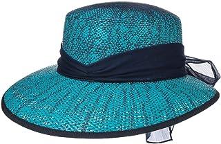 Lipodo Cappello di Paglia Twotone con Fiocco Donna - Made in Italy Estivo da Sole Cappelli Spiaggia Visiera Primavera/Estate