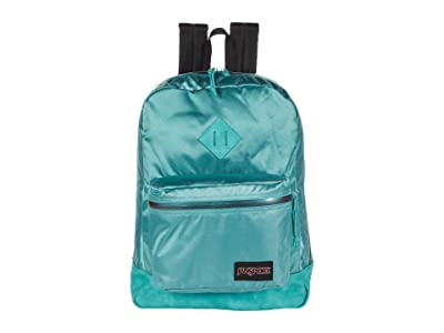 JanSport Super FX (Classic Teal Premium Poly) Backpack Bags
