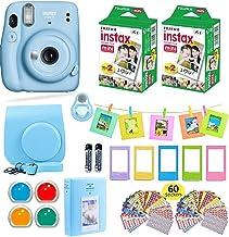 Fujifilm Instax Mini 11 Instant Camera Sky Blue + Carrying Case + Fuji Instax Film Value Pack (40 Sheets) Accessories Bund...