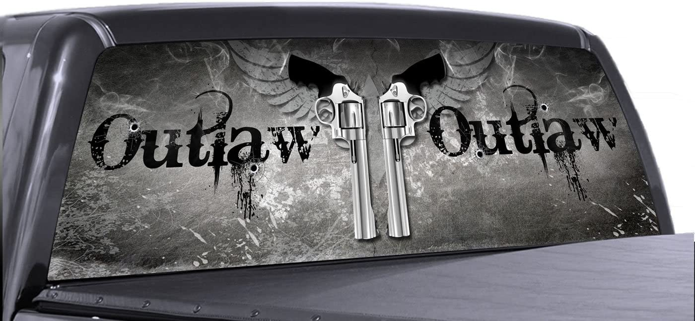 Perforated Decals Rear Window See Thru Sticker Graphic Decal Sticker Metallic Plate Compatible with Chevrolet Colorado Film Printed