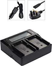 Dot Foto Panasonic VW-VBY100  VW-VBT190  VW-VBT-380 Dual Battery Charger Mains 12v USB Output LCD Status Display  See Description for Compatibility