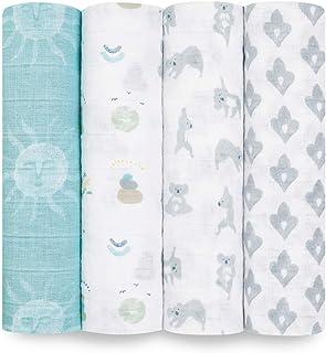 aden + anais™ Large swaddles 4 Pack 100% Cotton Muslin Now + Zen (120x120cm)