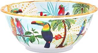 Les Jardins de la Comtesse - Saladier Profond en Mélamine Pure – Contour - Toucans de Rio – 3L / 35 cm – Multicolore - Ser...