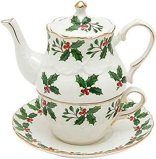 Christmas Tea for One - Holly Design