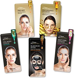 7th Heaven Renew You Pamper Time Bundle Face and Eyes Masks