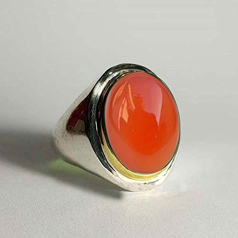 925 Sterling Nippon regular agency Silver Ring Carnelian Jewelry Ca Boys Tone Two Boston Mall