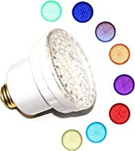 LAMPAOUS LED SPA Bulb, 15 Watt E26 LED Pool Bulb, 5 Color Show and 7 Solid Colors LED Hot Tub Replacement Bulb for Pentair and Hayward Under Water Lights Fixture.12VAC Input