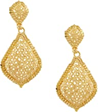 Bodha 24K Gold Plated Traditional Chandelier Chandbali Gold Earrings for Women (SJ_1363)