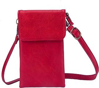 TIANHOO Women Cellphone Pouch Holster Small Crossbody Single Shoulder Bag or Passport Purse