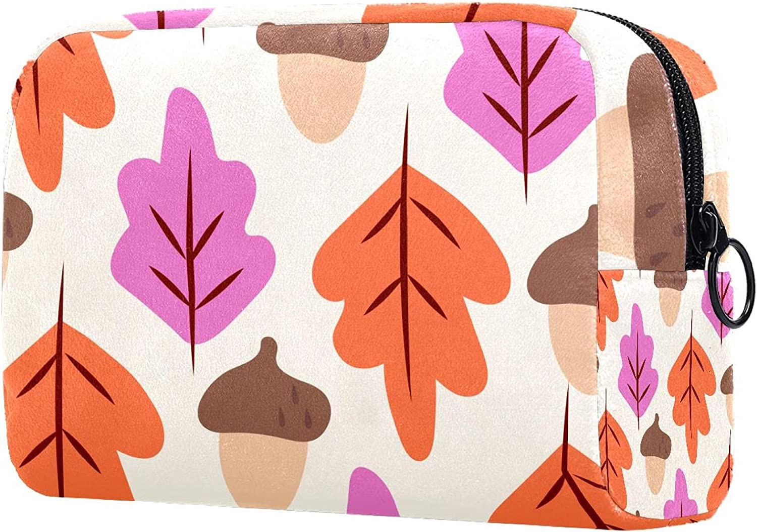 Colorful Ranking TOP11 Maple Leaf Acorn Pattern-01 Ranking TOP6 Purse Trav For Makeup Bag