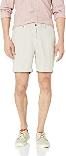 """28 Palms Men's Relaxed-Fit 7"""" Inseam Linen Short with Drawstring"""