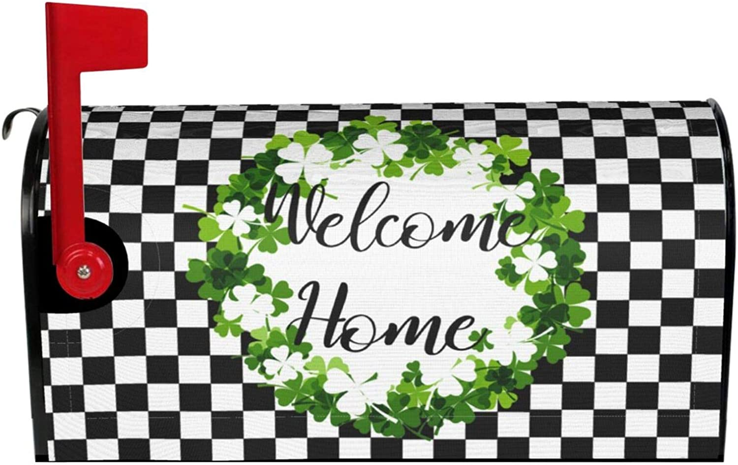Cheap SALE Start DZGlobal Magnetic Mailbox Covers Boxwood Wreath Welcome Selling and selling Ho Plaid