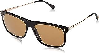 Tom Ford Square Unisex Sunglasses - Brown Lens, FT0588-01E