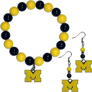 NCAA Womens Fan Bead Earrings and Bracelet Set
