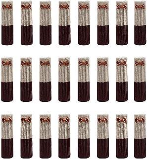 Amacoam Calcetines para Sillas Elásticos para Mesa Muebles Protector Patas Sillas Calcetines de la Pierna de Punto Protectores Antideslizantes para Pisos Cubierta para Anti Scratch 24 Piezas