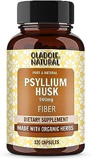 Oladole Natural Psyllium Husk Made with Organic Herbs 120 Capsules