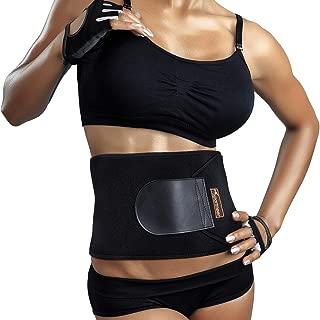 Elastic Waist Ab Cincher Trainer Trimmer Neoprene Hourglass Slimming Body Shaper,Compression Band Workout,Adjustable Back Support whamz Upgraded Version Sweat Belt Waist Trainer for Women /& Men