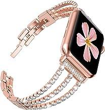 Ring Store Bransoletka damska Fit dla Apple Watch 6 SE Band 40mm 44mm Series 5 4 3 Pasek Bling Diamonds Correa Fit dla Iwa...