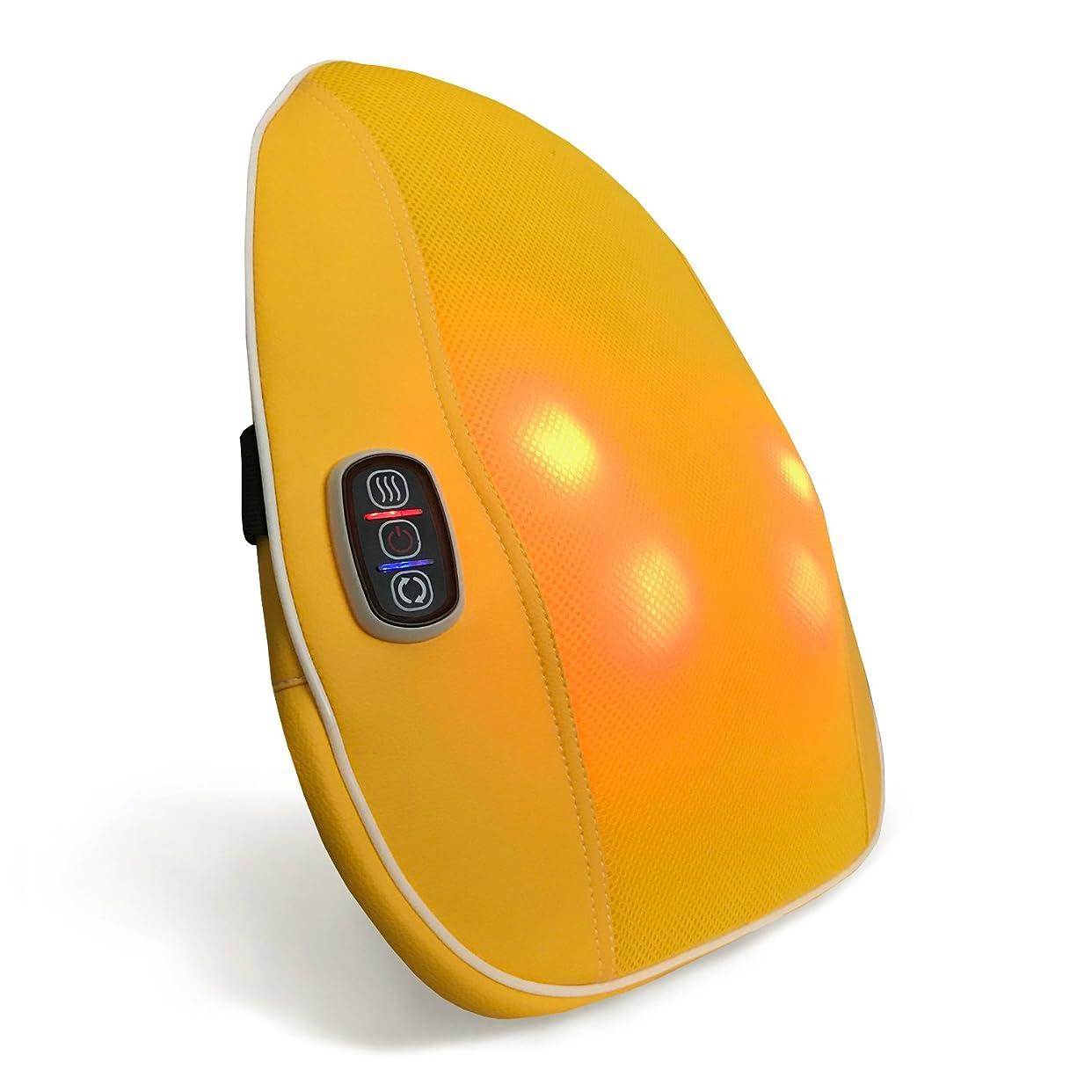 遺跡人工的なブランドクロシオ スマートマッサージャー パプリカ イエロー 幅40cm 厚み9cm もみ玉式マッサージ器 薄型 簡単操作 マッサージクッション