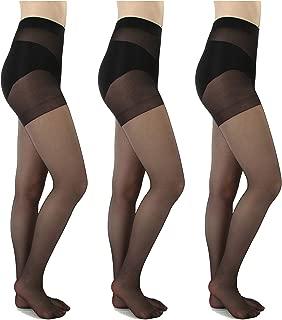 3 or 6 Pairs Control Top Sheer Pantyhose