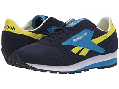 Reebok Lifestyle Classic Leather Az (Collegiate Navy/Easy Blue/Hypergreen) Shoes