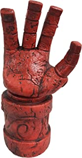 Hellboy Mask with Hair Right Hand Glove Halloween Costume Latex