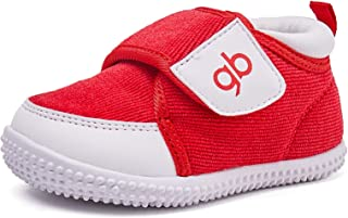BMCiTYBM Baby Boy Crib Shoes Infant Girl Winter Soft Baby Sneakers 6-24 Months Red Size: 12-18 Months Toddler