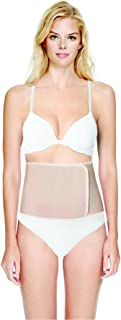 Terramed Organic Breathable Bamboo Elastic Abdominal Binder Waist Trimmer Postpartum Recovery Support (Beige, X-Large)