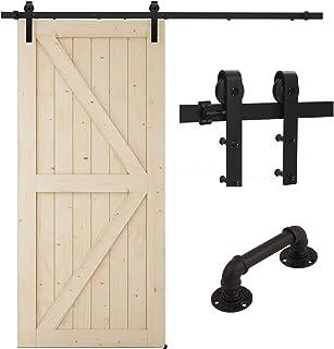 Rieles de piso para puerta de granero soporte para rieles de rodillos de soporte de pared tope ranurado de pared rieles de piso inferior para puerta corredera de granero canales ajustables suaves