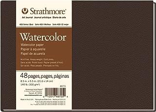 "Strathmore Paper Strathmore STR-467-5 48 Sheet No 140 Watercolor Art Journal, 8.5 by 5.5"", 467-5, 5.5""x8.5"""