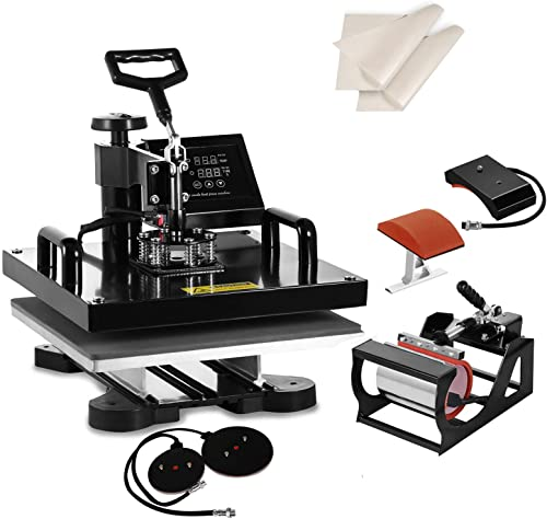 """wholesale SHZOND 5 in 1 Heat Press Machine 15""""x high quality 15"""" Heat Transfer Machine for T Shirts Hat Mug Plate (5 in lowest 1) online sale"""