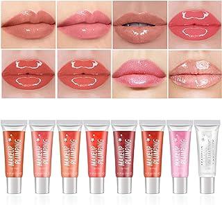 Ownest 8 Colors Lip Gloss Set,Glitter Lip Gloss Pearl Shimmer Lip Gloss Set Waterproof Long Lasting Moisturizing Lip Gloss...