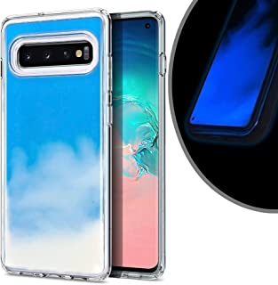VenSen Liquid Fluorescent Case for Samsung Galaxy S10 (6.1 inch) Soft TPU Luxury Glow in The Darkness Noctiluncen Luminous Neon Sand case Fit GalaxyS10 (Blue)