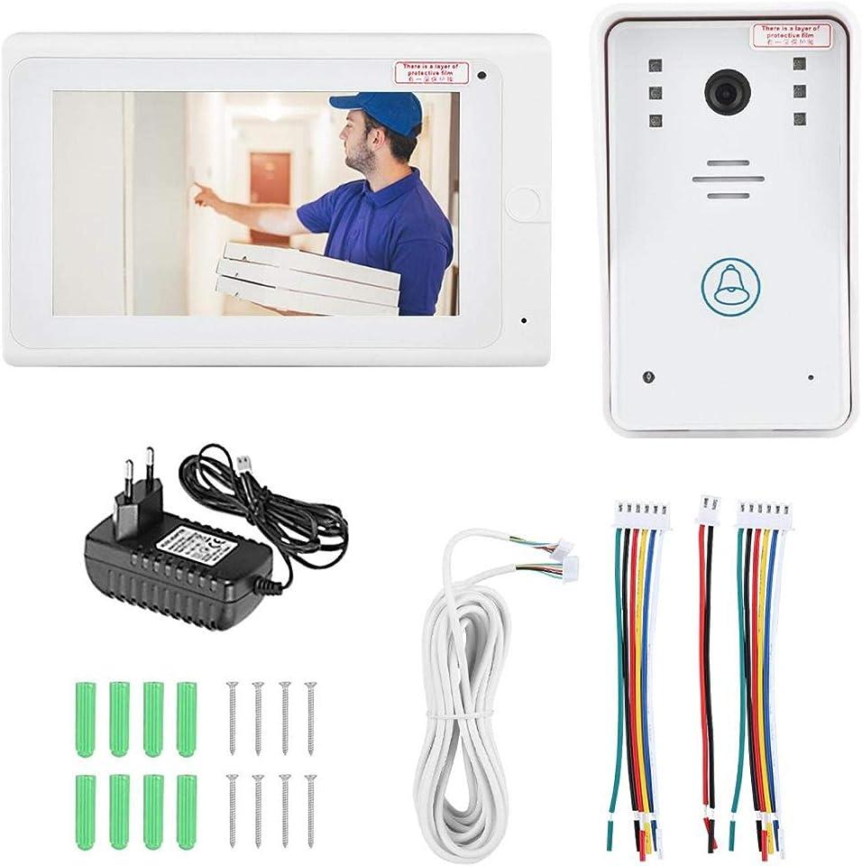 Kapazitive Mehrpunkt-Touchscreen-Videotürklingel Verschleißfeste Außenmaschine(100-240V European Standard)