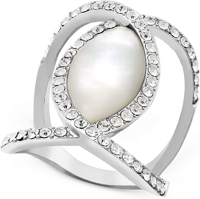 INC International Concepts I.N.C. Pavé Crystal Statement Ring