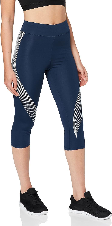 AURIQUE Women's Printed Capri Sports Leggings