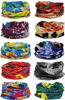 Ussuperstar 10pcs Outdoor Wide Wicking Headbands Men Women Seamless Headwear Tube Bandana Face Mask Magic Scarf for Backpacking Running Yoga
